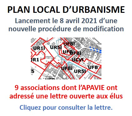 Lancement de la modification du PLU de 2020